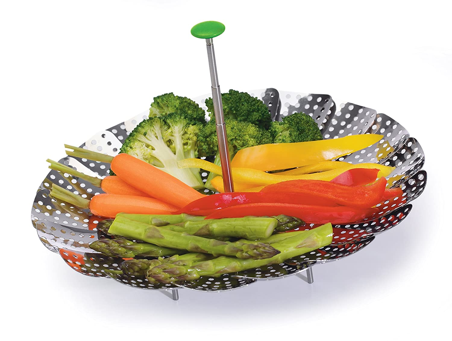 "Prep Solutions by Progressive PS-2090 Prep Solutions Steamer Basket 9"" Stainless Steel"