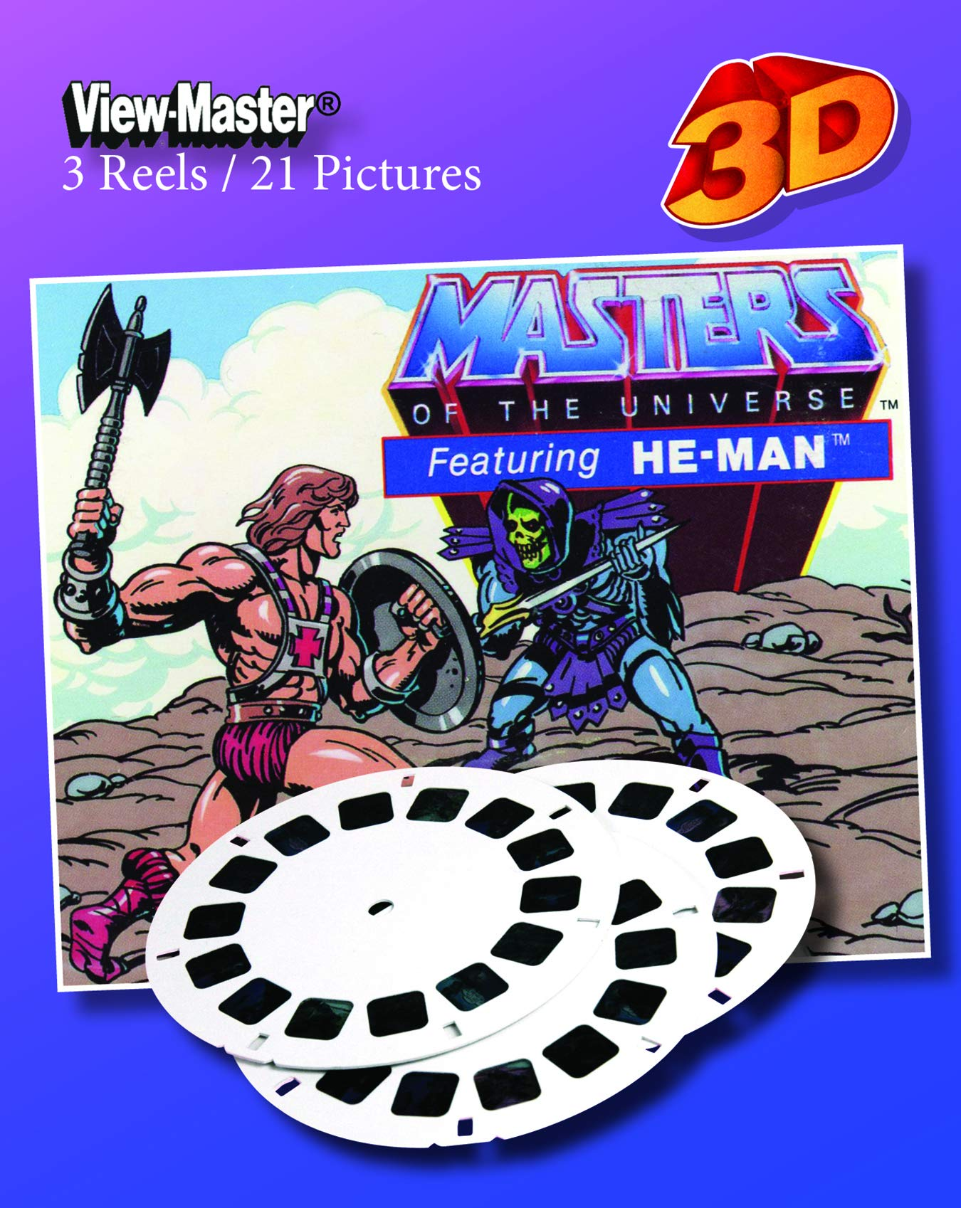 3Dstereo ViewMaster Masters of The Universe No. 2 - Featuring HE-Man - ViewMaster 3 Reel Set by 3Dstereo ViewMaster