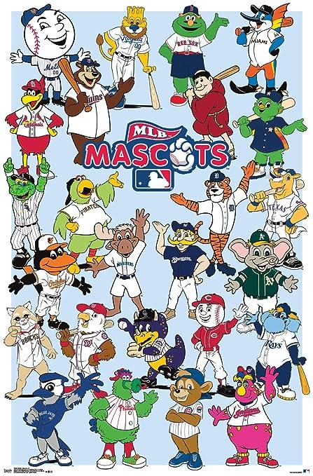 Trends International MLB-Mascots Clip Bundle Wall Poster 22 375