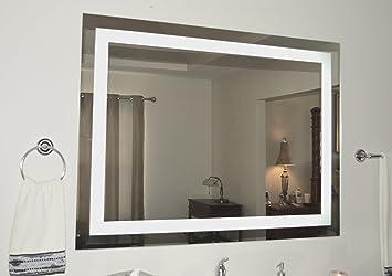 Amazoncom Wall Mounted Lighted Vanity Mirror LED MAM - Wall mounted vanity mirror with lights