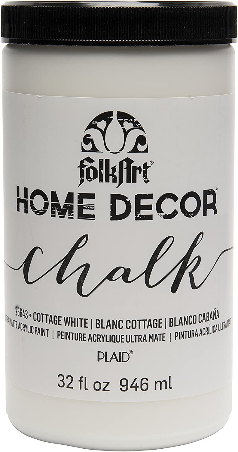 Amazon Com Folkart Home Decor Chalk Furniture Craft Paint In Assorted Colors 32 Ounce Cottage White 25643