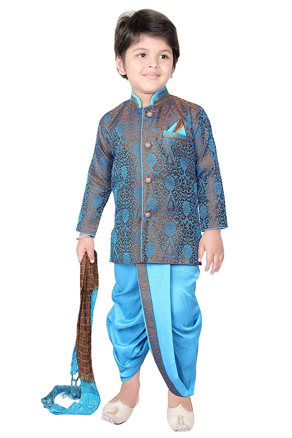 Dhoti Combo Sherwani Suit Pyjama Wedding Indian Party Wear Boys ...