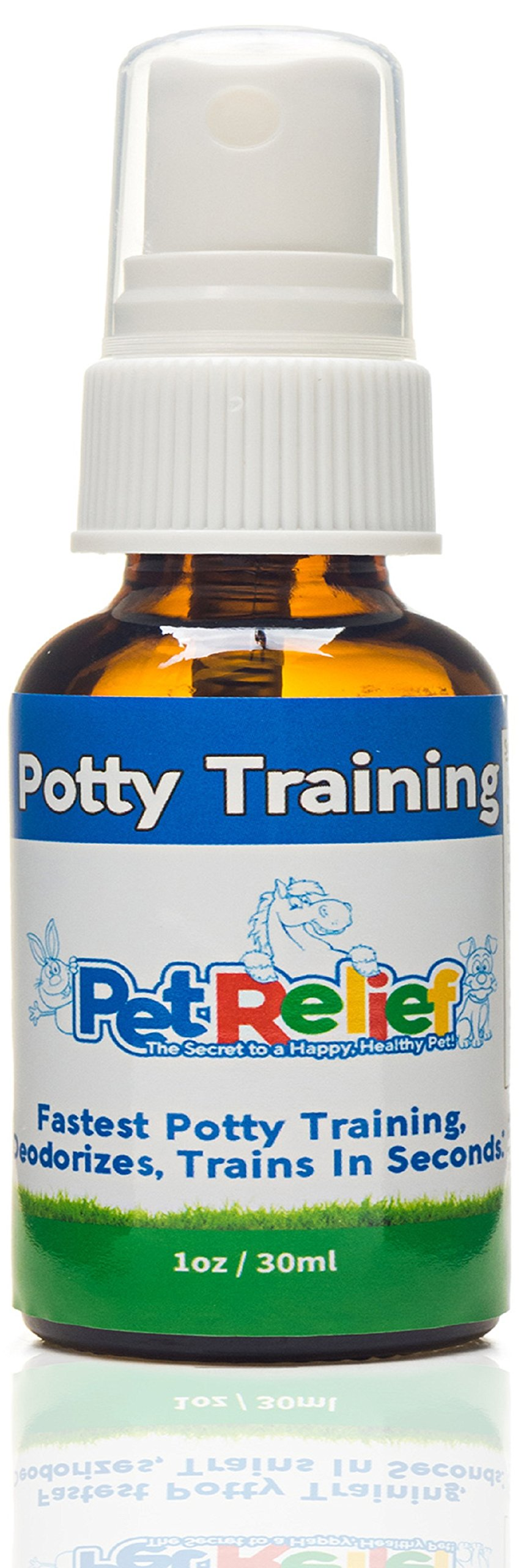 PET RELIEF Potty Training For Puppies, Dog & Puppy Potty Training Spray, Urine Repellent,! 30ml Natural Potty Training Aid, Stop Peeing Spray, Piddle Place, No Side Effects! Made USA by PET RELIEF