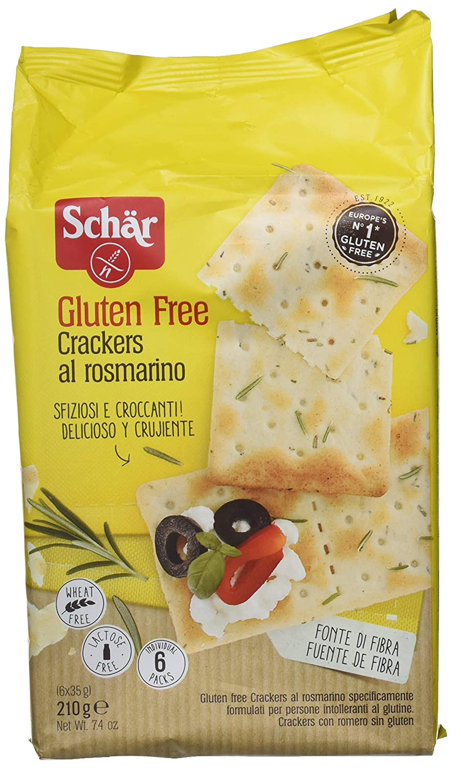 Amazon.com: Schar Gluten Free Crackers With Rosemary 210g ...