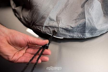 Softgarage 3 Lagig Lichtgrau Indoor Outdoor Atmungsaktiv Wasserabweisend Car Cover Vollgarage Ganzgarage Autoplane Autoabdeckung 202010 0603bek Auto