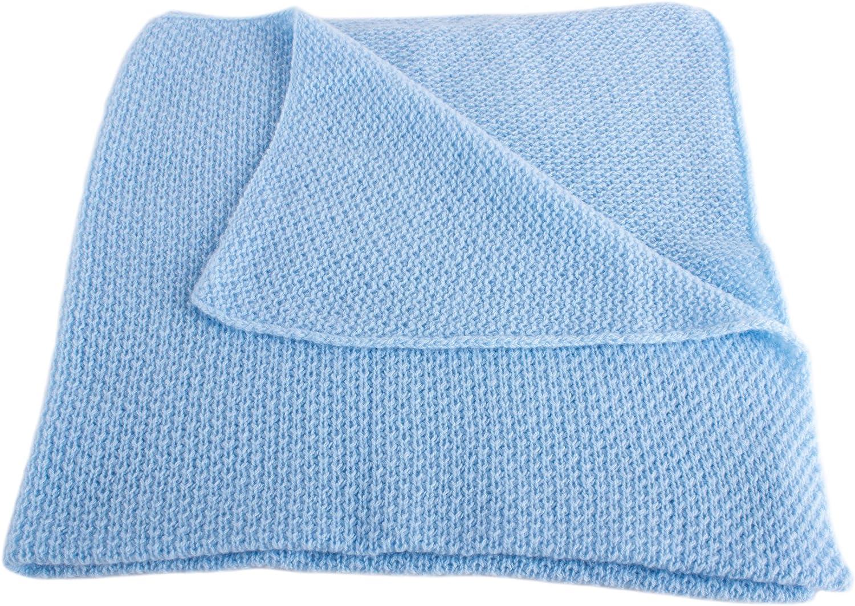 Fait main /à /Écosse Love Cashmere Couverture pour B/éb/é Ultra Douce 100/% Cachemire B/éb/é Bleu