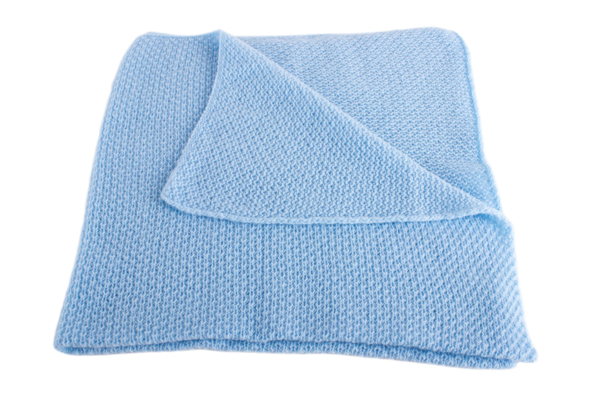Boys Super Soft 100% Cashmere Baby Blanket - 'Baby Blue' - hand made in Scotland by Love Cashmere