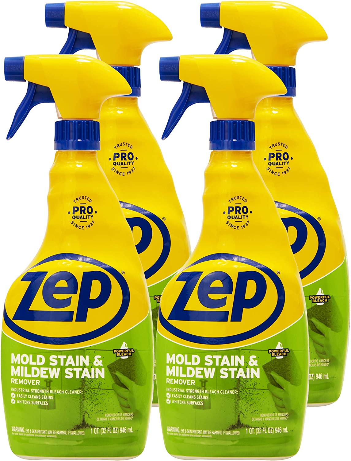 Zep Mold Stain and Mildew Stain Remover 32 Ounce ZUMILDEW32 (Case of 4)