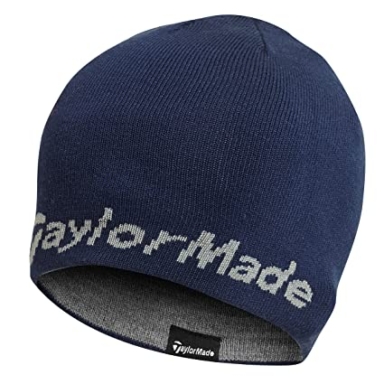 2015 TaylorMade Reversible Thermal Golf Beanie Double Knitted Mens Hat Navy acfd5f38d767