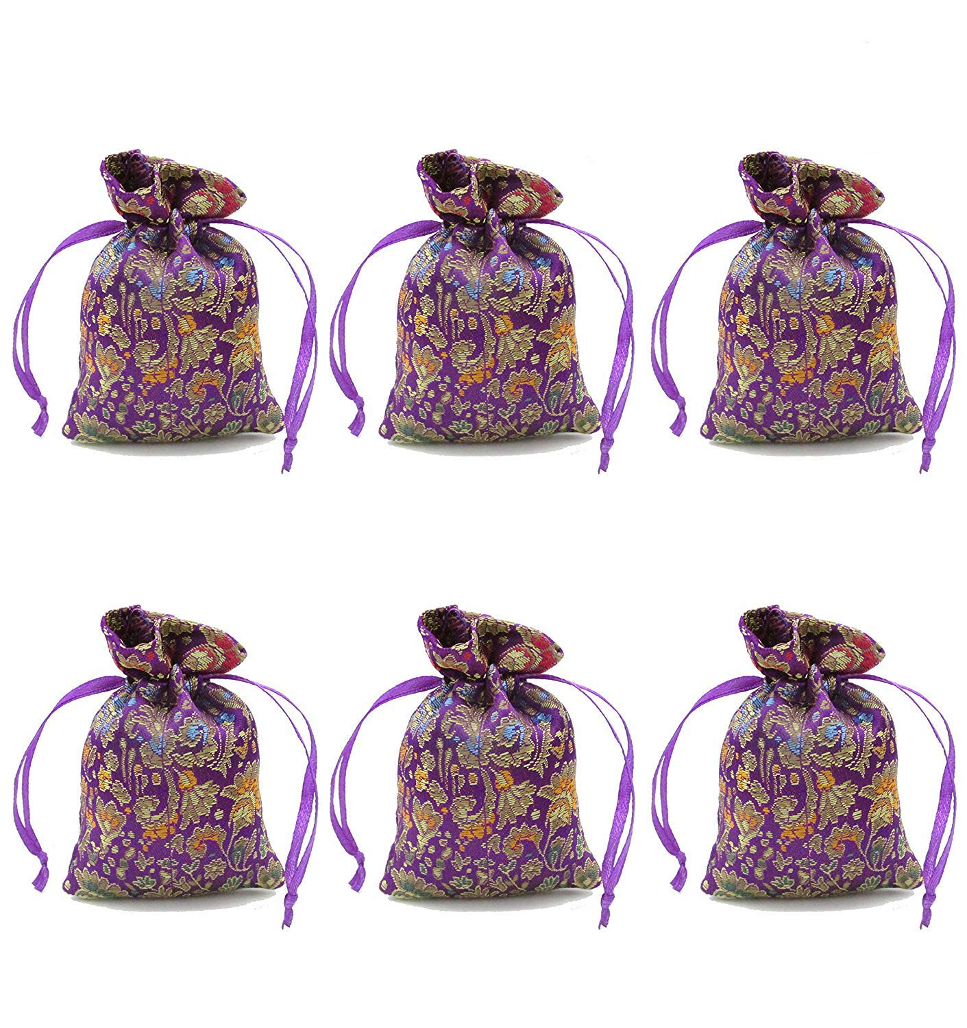 Anianiau Lavender Scented Sachets - Effectively repel insects and moths Purifies bad odour 6 Pack