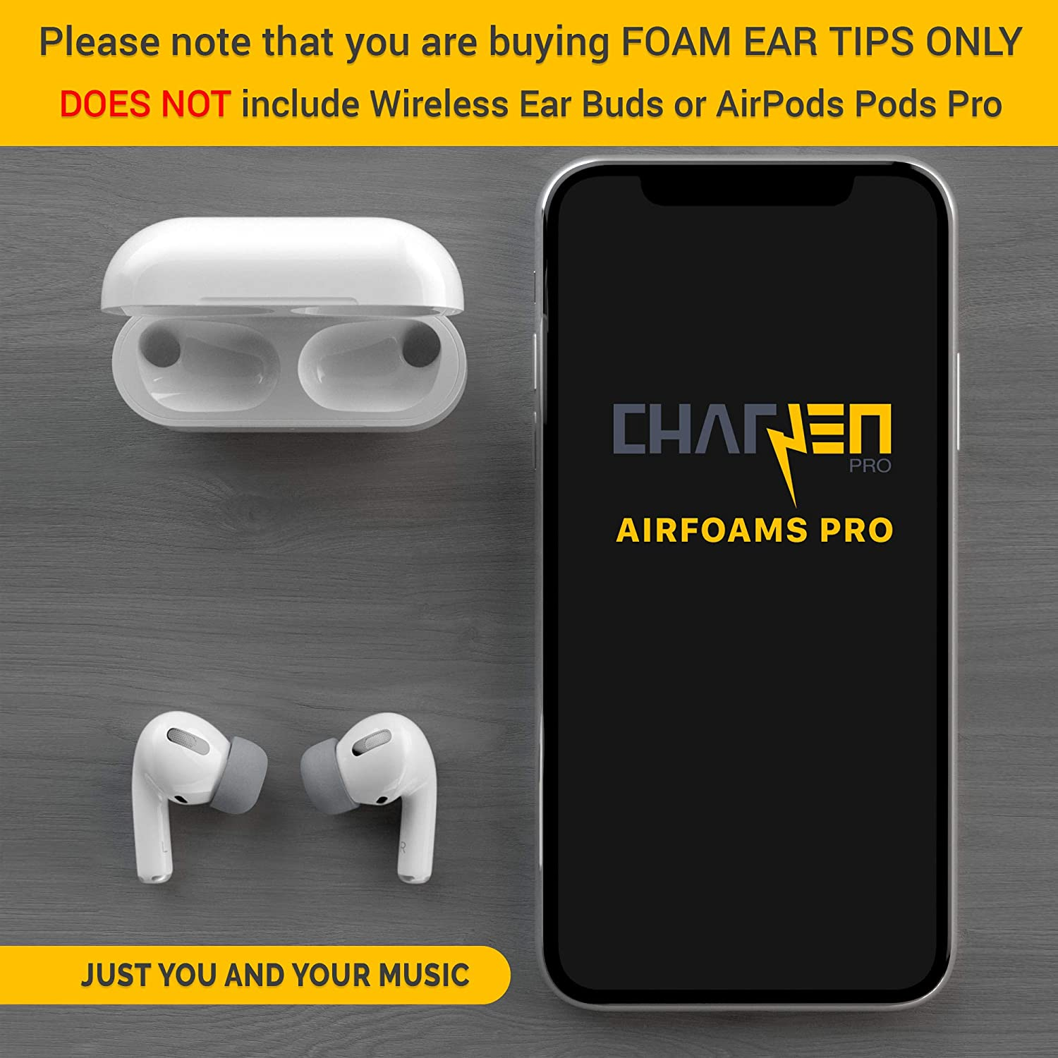 2 Medium//Large, Space Gray AirFoams Pro Foam Ear Tips for Airpods Pro Stays in Your Ears Premium Memory Foam Ear Tips All Day Comfort. No Silicone Ear tip Pain