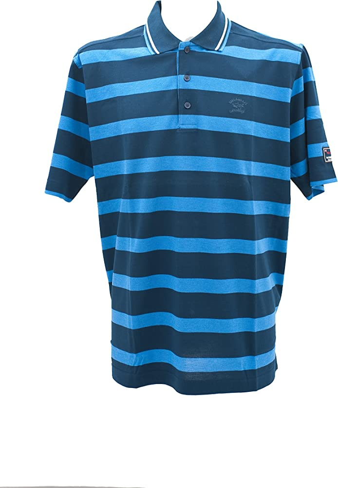 PAUL & SHARK Polo Hilo de Escocia BLU Azzurro XXL: Amazon.es: Ropa ...