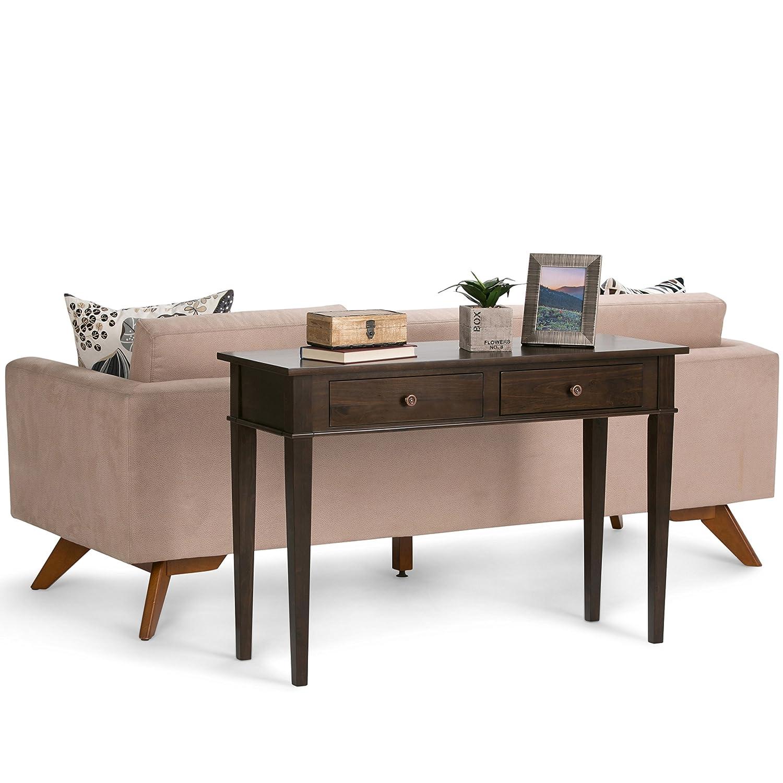 Amazon Simpli Home Carlton Console Sofa Table Dark Tobacco