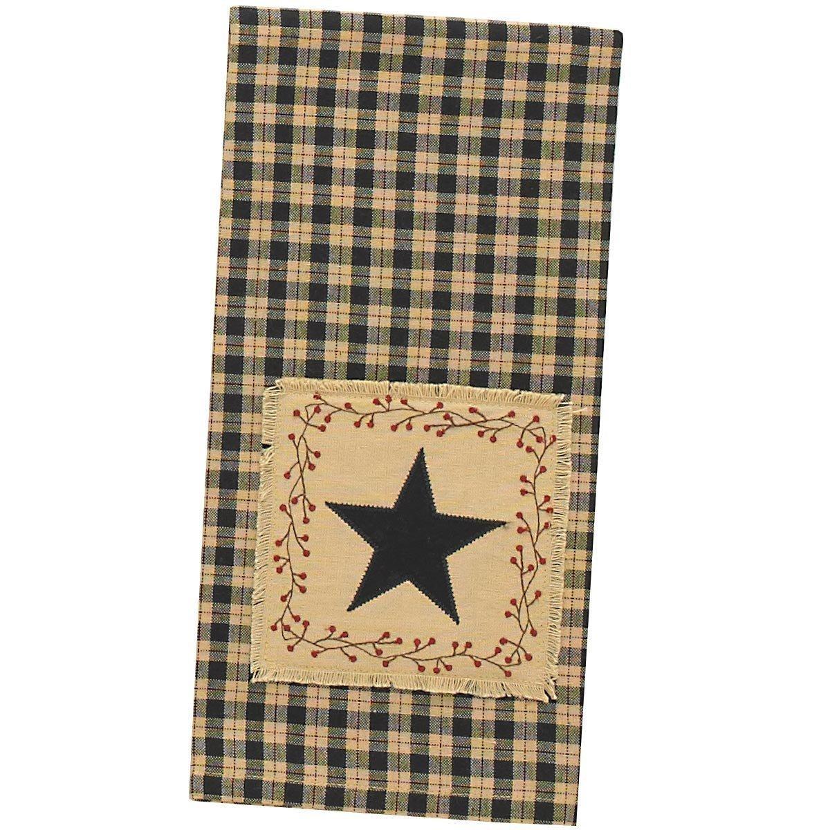 Star Patch Decorative Dish Towel