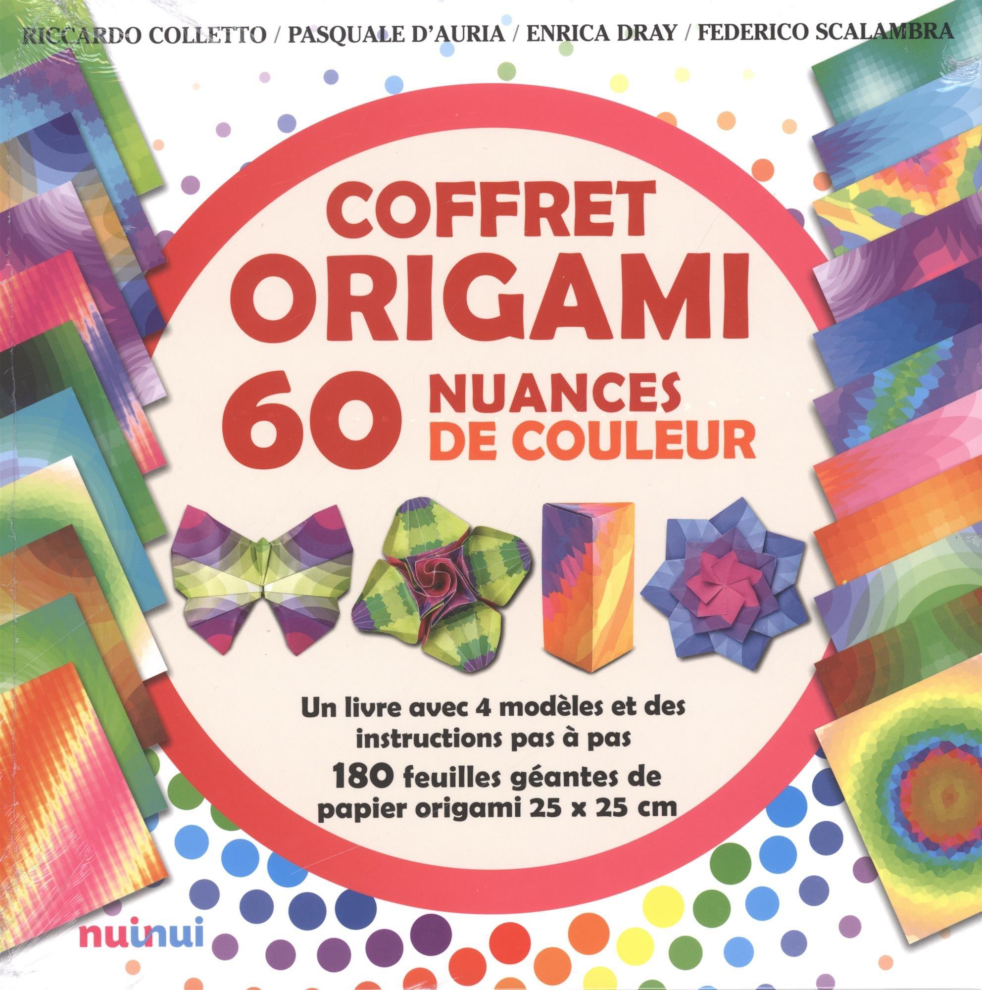 Coffret Origami 60 Nuances De Couleur Un Livre Avec 4