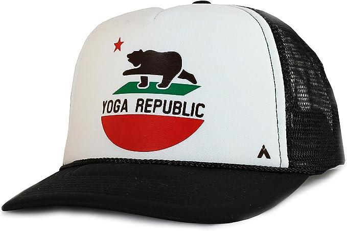 Elephant Yoga Children Trucker Cap Hat Black