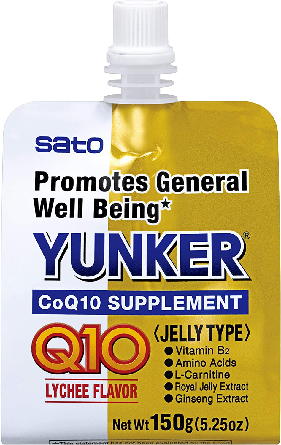 Yunker Health Coq10 Supplement Jelly Type, 5.29 Fl Ounce