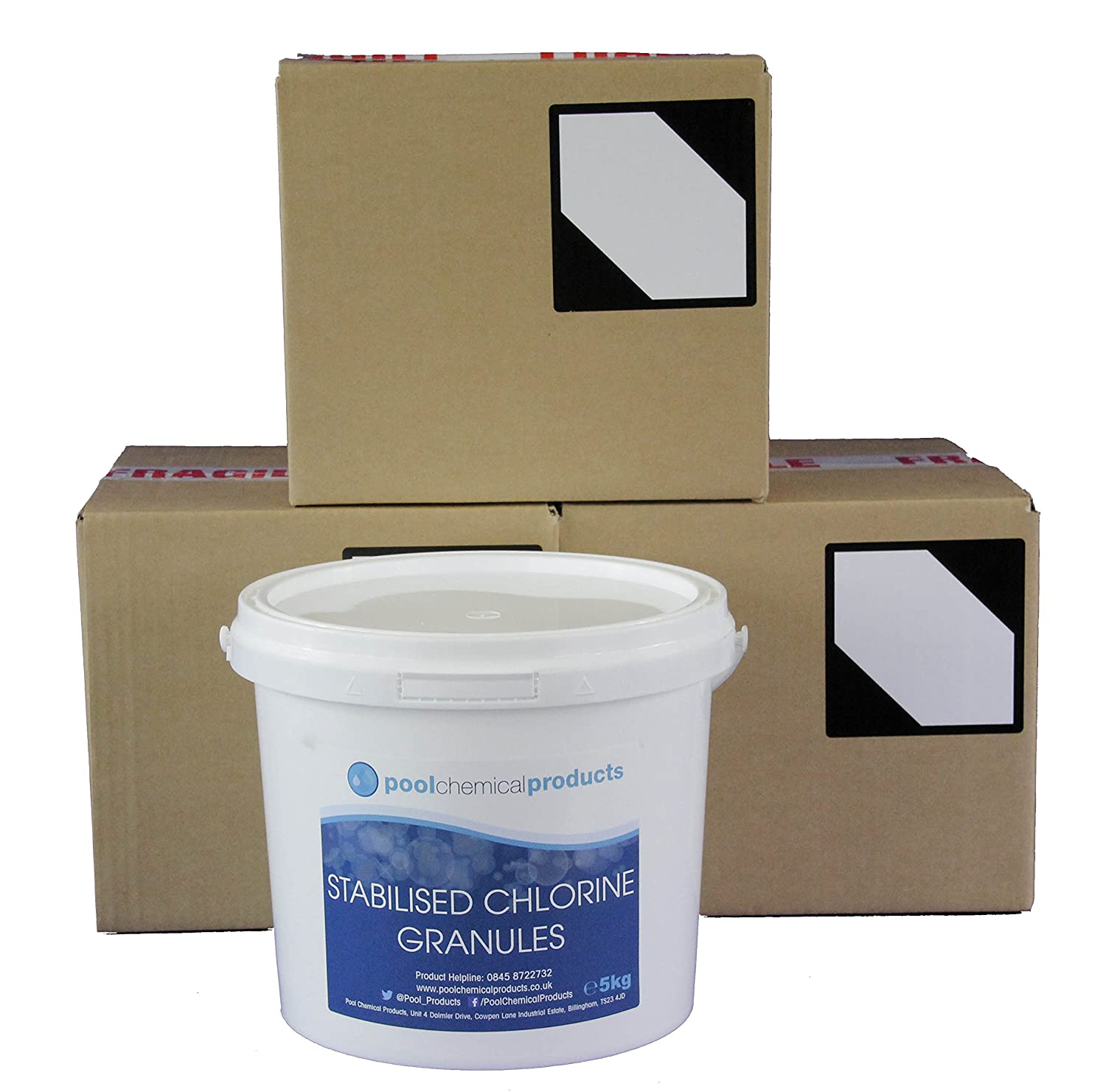 Stabilised Chlorine Granules 20kg Swimming Pool Spa Hot Tub Pool Chemical Products