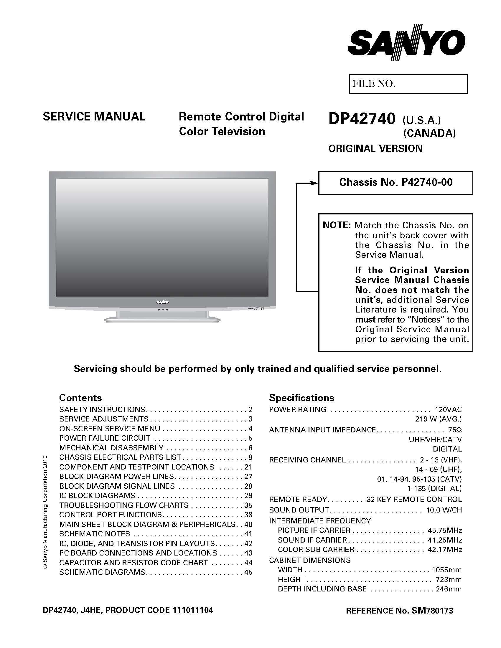 Sanyo Dp42740 More Models Service Manual Books Pin Tv Monitor Diagram Blog Electronic Circuit Design On Pinterest