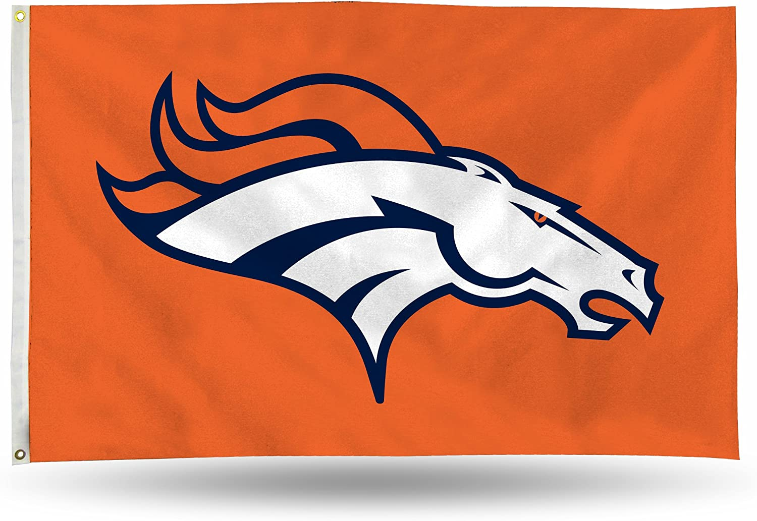 NFL Rico Industries 3-Foot by 5-Foot Single Sided Banner Flag with Grommets, Denver Broncos