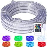 Areful LED Rope Lights, 16.4ft Flat Flexible RGB Strip Light, Color Changing, Waterproof for Indoor Outdoor Use, Connectable