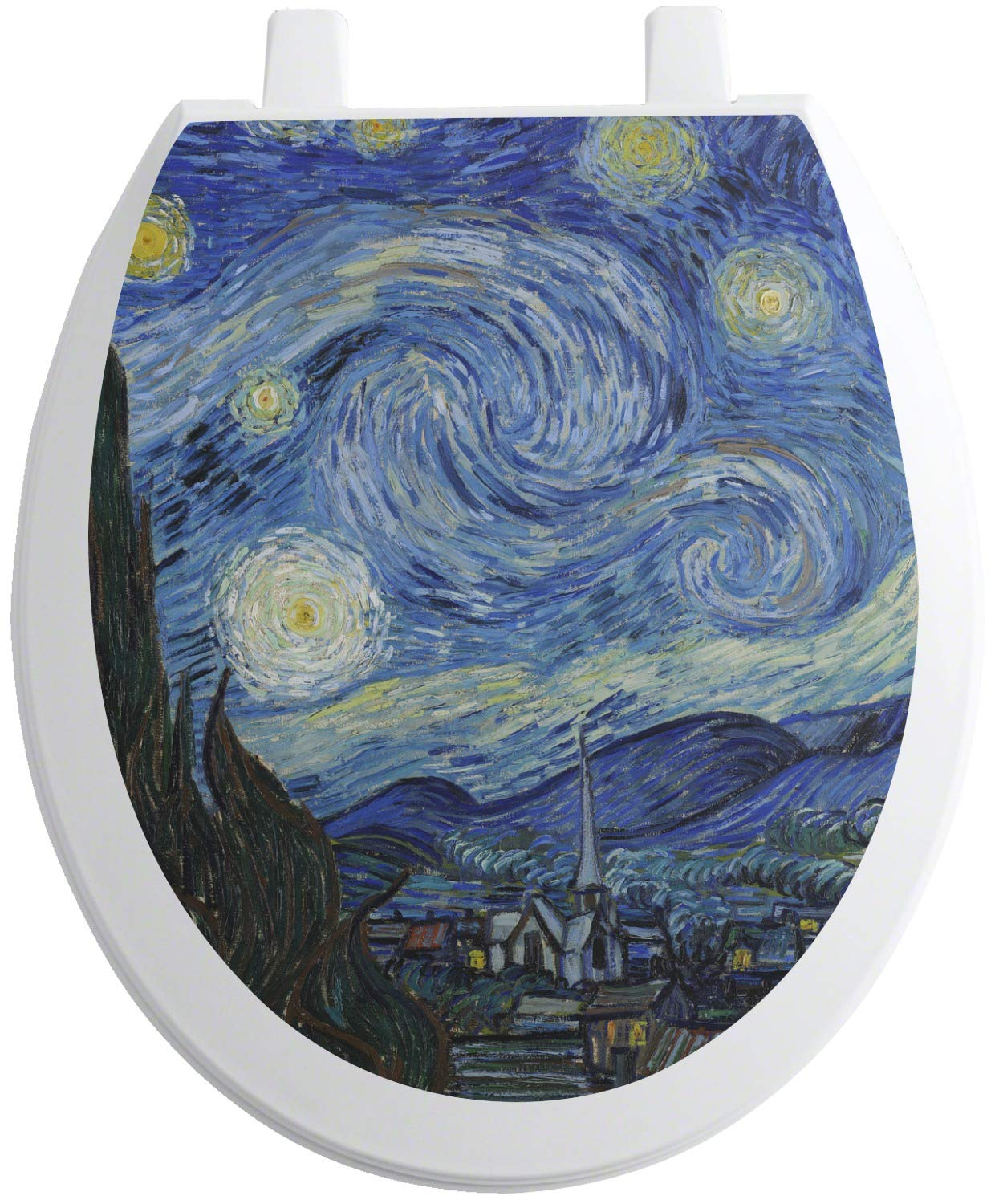 RNK Shops The Starry Night (Van Gogh 1889) Toilet Seat Decal - Round by RNK Shops