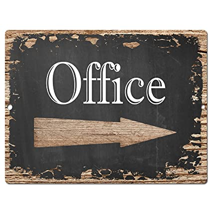 OFFICE Chic Sign Rustic Shabby Vintage Style Retro Kitchen Bar Pub Coffee  Shop Wall Decor