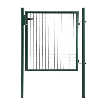 pro.tec] Porte de Jardin zingué [100x100cm] Vert- INCL Serrure 3 ...