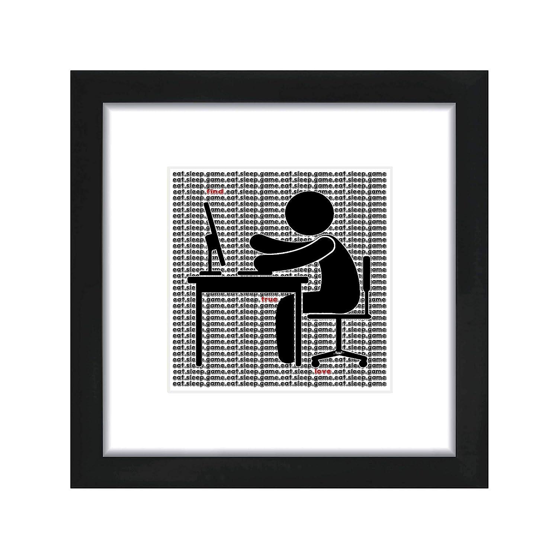 Memeity Studios ~ Generation Now Eat.Sleep.Game Series Wall Art 8/×8 Print ~ Matted /& Framed!