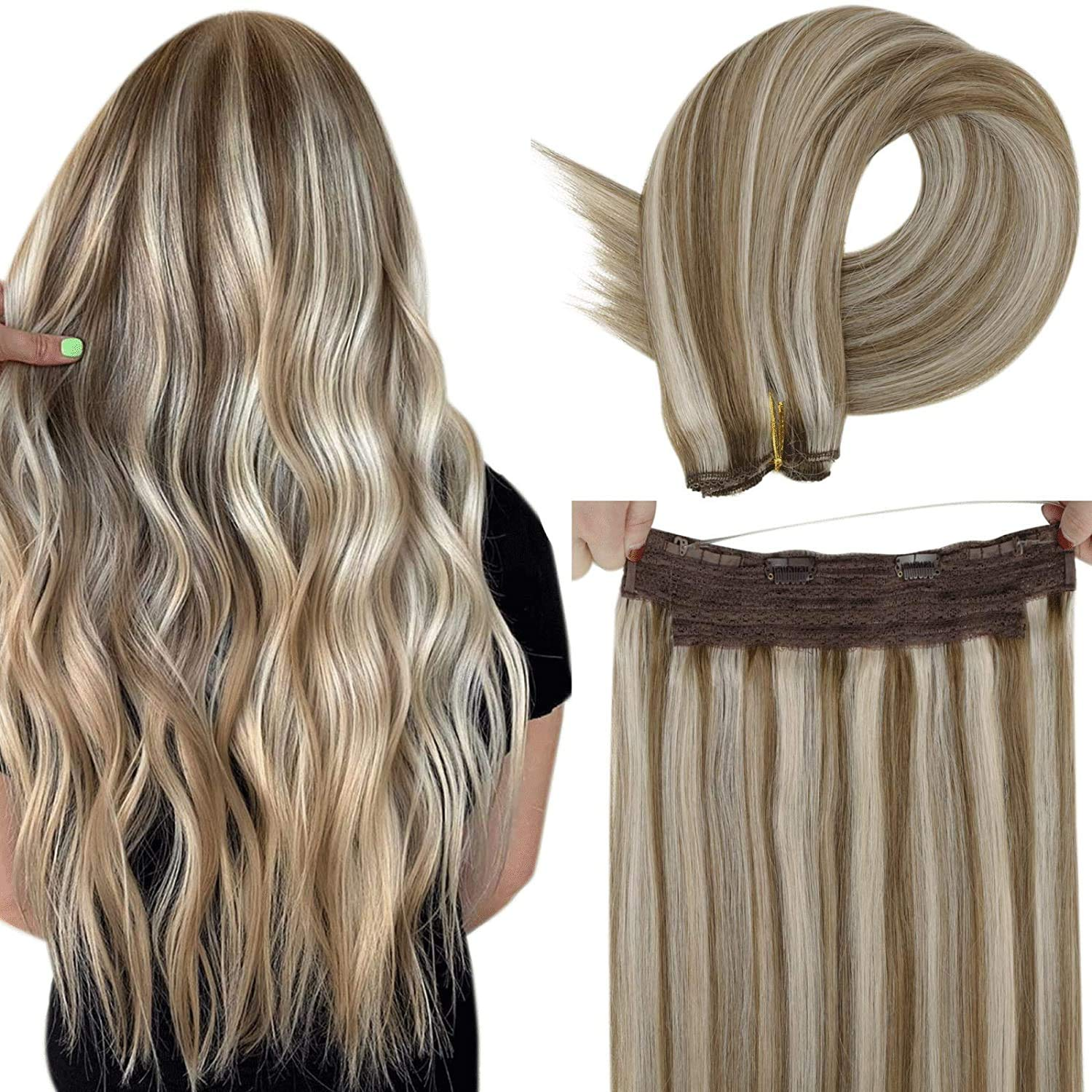 New York Mall LaaVoo Fish Wire Hair Extensions Line Import Exte Human Brown