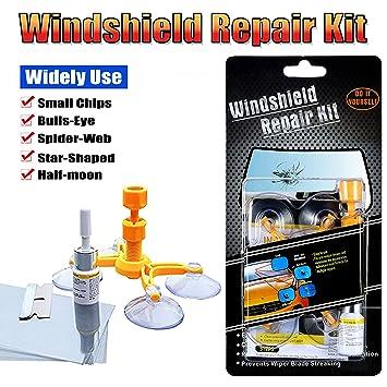 BURFLY Car Windshield Repair Kit Windscreen Repair Resin Tool Sets for Auto Window Glass Chips Cracks Bulls Eye