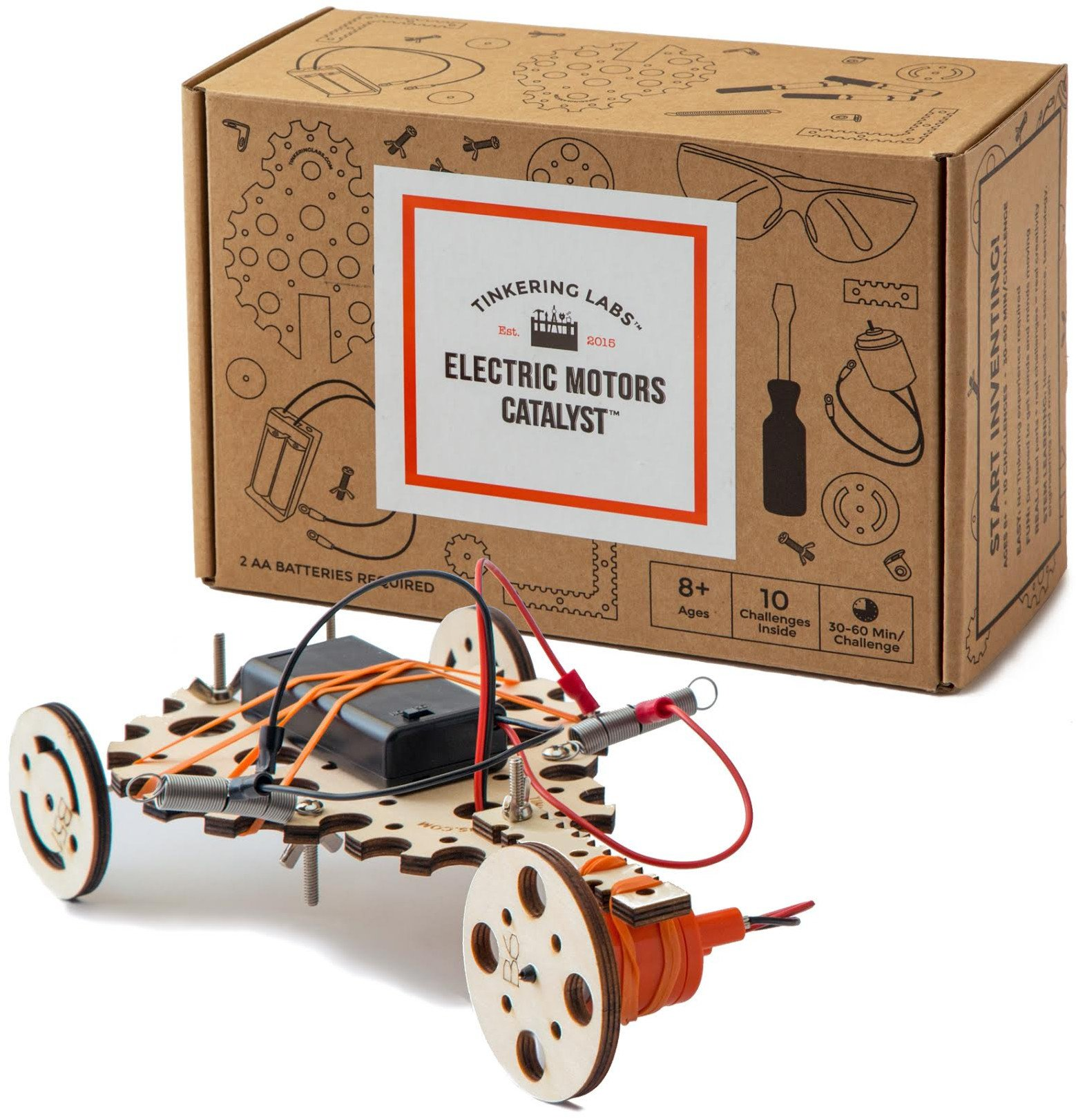 Tinkering Labs Electric Motors Catalyst, Robotics Stem Kit for Kids Age 8-12 by Tinkering Labs