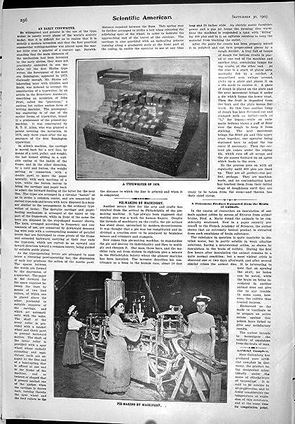Impresión Antigua de la Empanada Americana Científica de 1905 Trabajadores de Mujeres Que Hace la Máquina