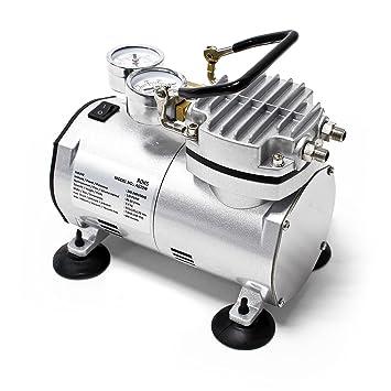 Compresor AS20W para aerografía con bomba de vacío y ...