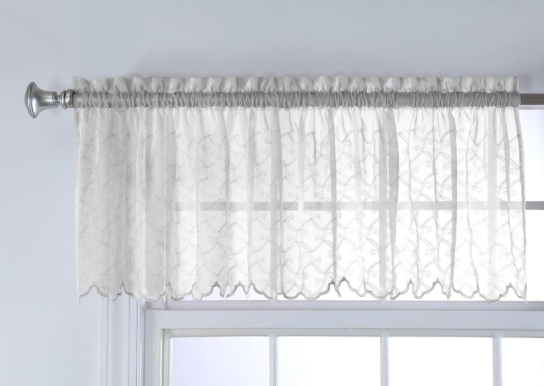 White Belle Maison USA Ltd. Stylemaster Splendor Valance 70 X 16