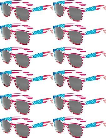 Norme 12 piezas América América EE. UU. Bandera Gafas de sol Día ...