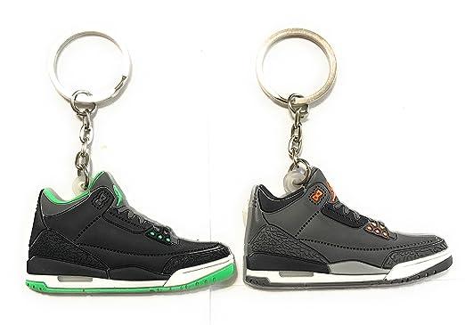 WeTheFounders Zapatos Sneaker Llavero AJ-3 Retro, Balck ...