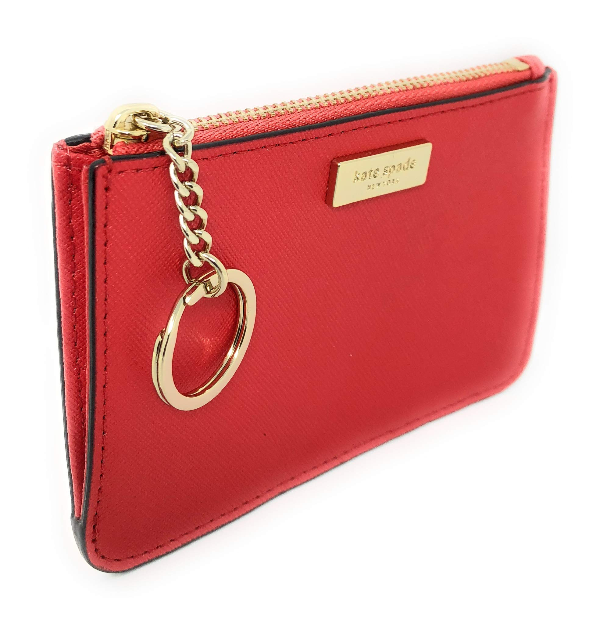 Kate Spade New York Bitsy Card Case W/Keyring Coin Purse Red
