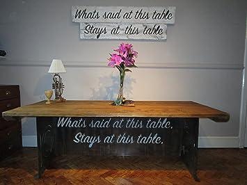 table de salle manger industriel dragonne avec pieds bois recycl vintage shabby