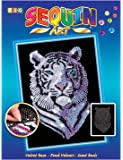 Art Sequin - KAD1217 - Peinture Au Numéro - Motif Tigre des Neiges - 25 x 34 Cm - Coloris Aléatoire