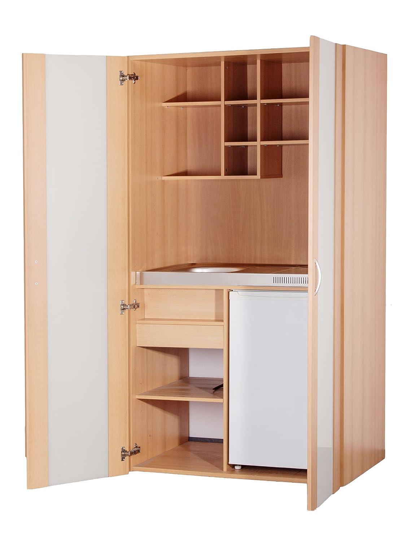 MK0009S Küche, Schrankküche, Miniküche, Singleküche in Buche 100cm ... | {Schrankküche gebraucht 24}