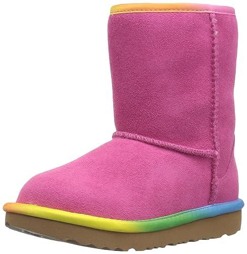 29c01327503 UGG Kids T Classic Short II Rainbow Pull-on Boot