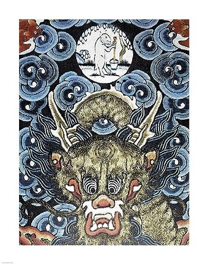 Amazon com: Dragon White Rabbit Making Elixir Immortality Art Print