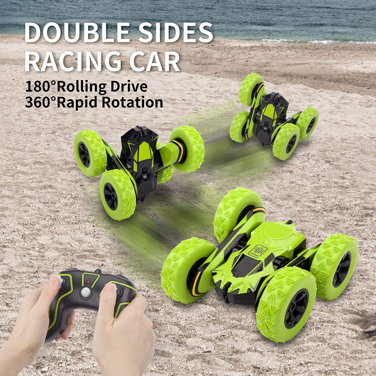 Sugoiti Remote Control Stunt Car Rc 4WD Off Road Rechargeable 2.4Ghz 3D Deformation Racing Car,Double Sided Rotating Tumbling 360° Flips Off Road High Speed 7.5Mph Truck, Including Battery by Sugoiti (Image #2)