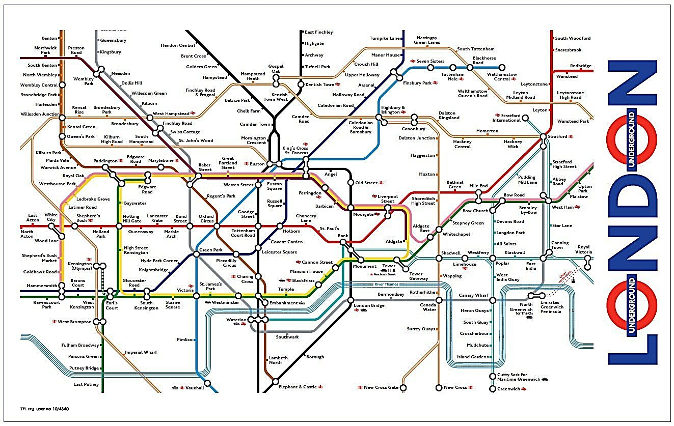 london underground map tea towel ba amazoncouk kitchen home