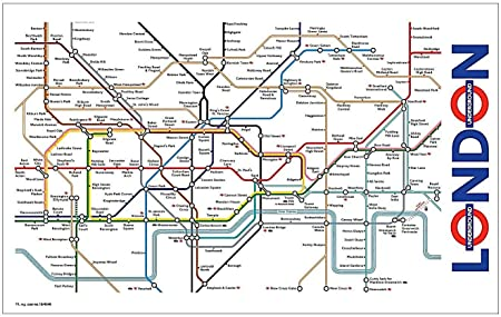 Amazon.com: Signs Unique London Underground Map Tea Towel (Ba