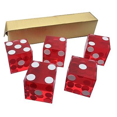 5x Rouge Neuf Parfait 19mm Précision Casino dés/au superbe