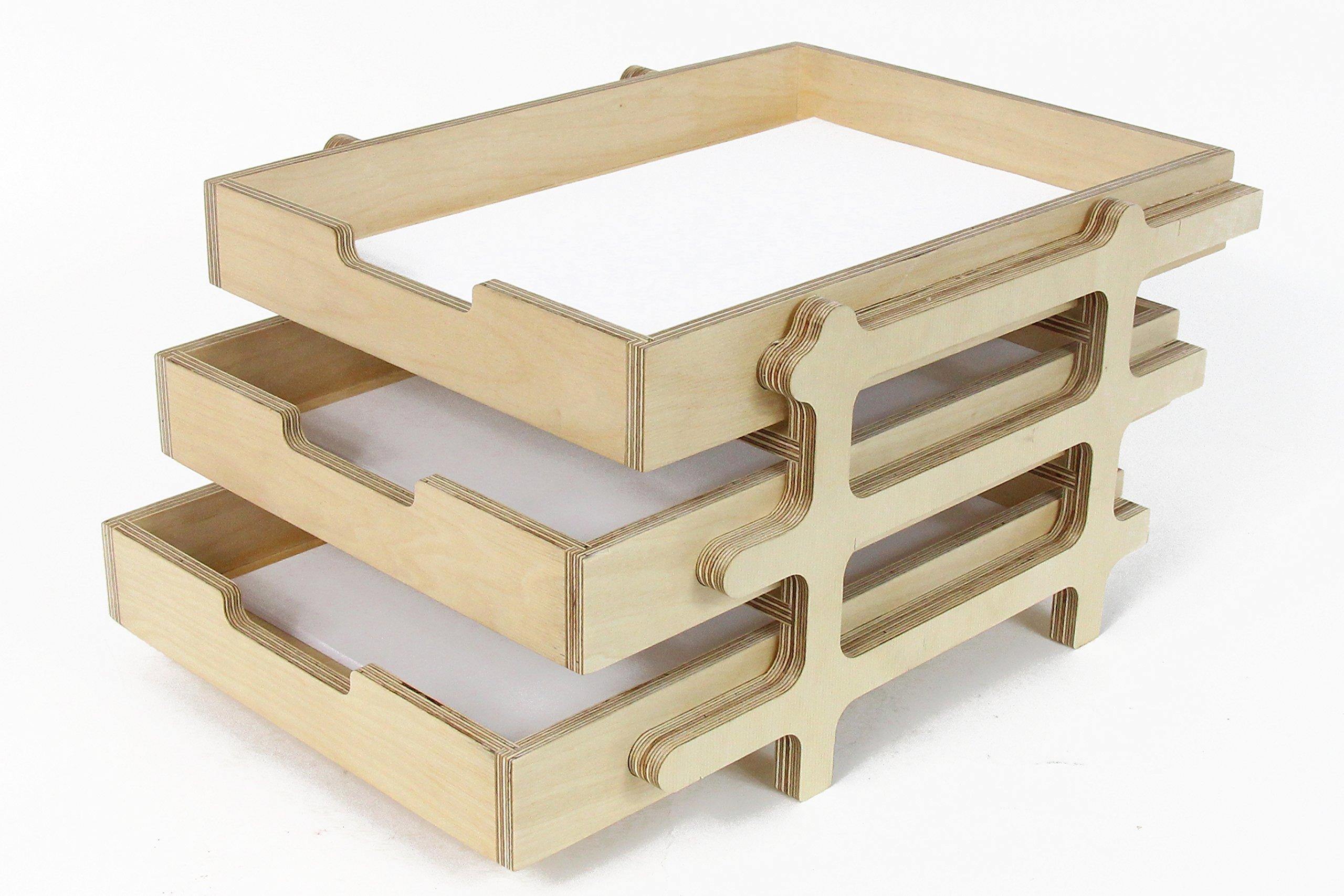 Desk Organizer, Desk Tray, Paper Tray, Wood Desk Tray, Wood Tray, Office Desk Accessories, Desk Accessories, Small Desk, Industrial Desk