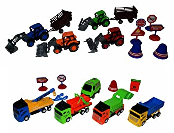 Bdr Toys Juguete Tractor Reciclado Basura Carro Juego Coches