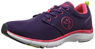 3c18708b2 Zumba Women s Fly Print Dance Shoe Acai Raspberry 5.5 ...
